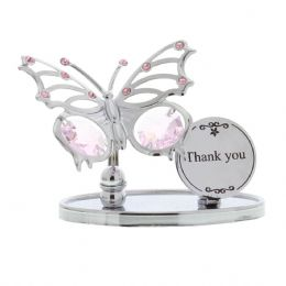 Unique Thank You Gift Ideas Presents for Her - Butterfly with Swarovski Crystal